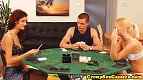 Stockings threeway with amateur cummed on