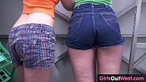 Hairy lesbian tradies peeing and oral sex