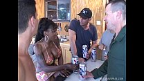 Busty Kelly Star gets anal gangbanged by four massive redneck cocks