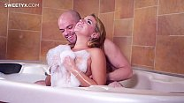 Blonde beauty gets her asshole fucked in a jacuzzy (Sofi Goldinfger, Jean-Marie Corda)