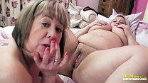 OldNannY Two British Mature Lesbians Masturbation