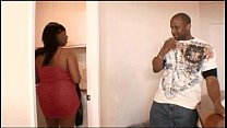 Fat ass black chick gets fucked hard