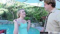 Alyssa Cole begs for Stepdad's cock to fill her tight teen pussy