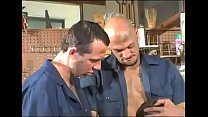 2 workers with monster cocks fuck a hot hunk