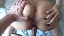 Amateura latina pussy rammed while spreading her ass