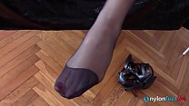Princess Eden orders to lick her shoes and jerkoff for her