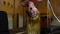 Suspended blowjob With open mouth gag