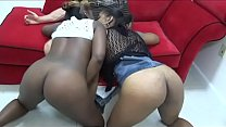 Watch the teenage black girls both give head to the same guy