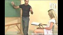 Teacher makes a schoolgirls panties wet
