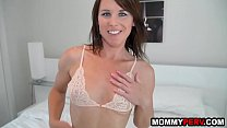 Hot mature mom seduces step-son