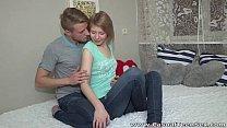 Casual Teen Sex - Teeny Katya surprises with great fuck