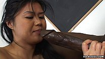 Super hot Asian lady gets a big black cock in her cunt