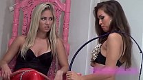 Hard whipping by two hot cruel sadistic mistresses