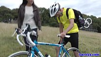 British mature picks up cyclist for fuck