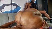 cheating ebony ssbbw wife taking 2 black cocks while husband is away Part 3