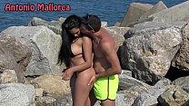 OMG she sucks my COCK ON THE BEACH (Antonio Mallorca)