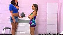 ExxxtraSmall Cute Petite teen Sara Luvvv lesbian sex Mackenzie Pierce