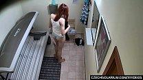 18 yo Girl came to Public Solarium with Hidden Cams