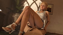 Lunafreya clothed fuck and jizz