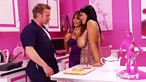 Horny MILFs Jasmine Black And Valery Summers Bang The Plumber