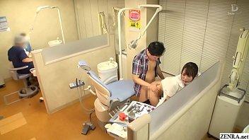 Japanese dentist risky sex at work with Nao Kiritani