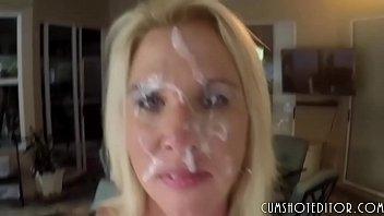 Hot Blonde MILF Gets Covered In Cum POV
