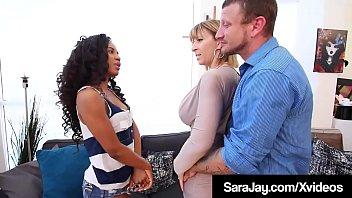 Sara Jay & Cock Fuck Beautiful Black Babysitter Demi Sutra!