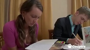 Teen Takes A Break From Studying To Suck Off Her Tutor