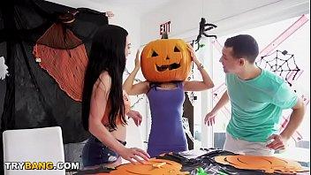 MILF Tia Cyrus Got Her Head Stuck In A Pumpkin. You Know What Happens Next! Hahaha