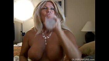Ravishing mature blonde Roxy loves to fuck younger guys