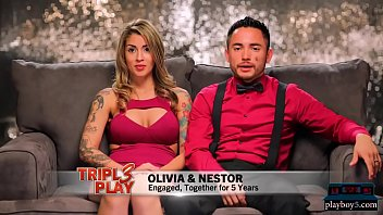 Tattooed couple looks for a threesome with a big titted girl