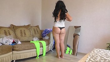 I watched mom change clothes and fucked her in anal